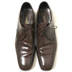 Prada Men's Brown Oxford Dress Shoes